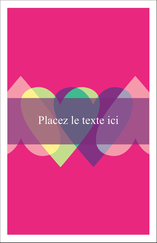 """8½"""" x 11"""" Binder Insert Reliures - Rang de cœurs de la Saint-Valentin"""