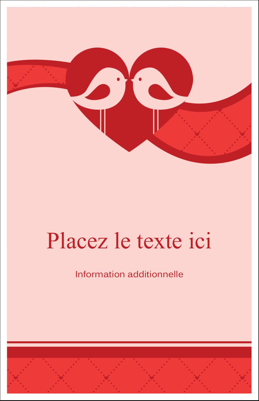 """8½"""" x 11"""" Binder Insert Reliures - Oiseaux amoureux"""