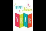 Vœux du nouvel an rétro Cartes Et Articles D'Artisanat Imprimables - gabarit prédéfini. <br/>Utilisez notre logiciel Avery Design & Print Online pour personnaliser facilement la conception.