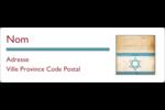 Étoile de David religieuse Étiquettes Polyvalentes - gabarit prédéfini. <br/>Utilisez notre logiciel Avery Design & Print Online pour personnaliser facilement la conception.