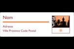 Méditation religieuse Étiquettes Polyvalentes - gabarit prédéfini. <br/>Utilisez notre logiciel Avery Design & Print Online pour personnaliser facilement la conception.