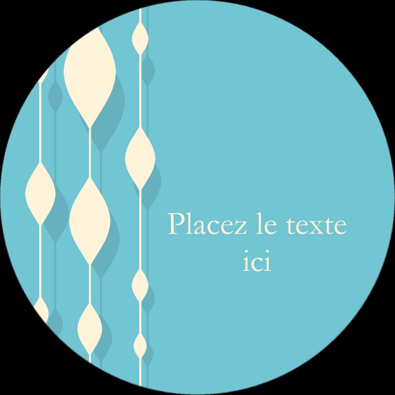 """2¼"""" x ¾"""" Étiquettes Voyantes - Rideau de perles bleues"""