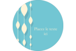 Rideau de perles bleues Étiquettes Voyantes - gabarit prédéfini. <br/>Utilisez notre logiciel Avery Design & Print Online pour personnaliser facilement la conception.