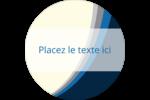 Vague bleue Étiquettes Voyantes - gabarit prédéfini. <br/>Utilisez notre logiciel Avery Design & Print Online pour personnaliser facilement la conception.