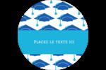 Mortiers de diplômés Étiquettes Voyantes - gabarit prédéfini. <br/>Utilisez notre logiciel Avery Design & Print Online pour personnaliser facilement la conception.