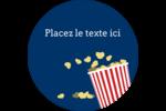 Popcorn et film Étiquettes Voyantes - gabarit prédéfini. <br/>Utilisez notre logiciel Avery Design & Print Online pour personnaliser facilement la conception.