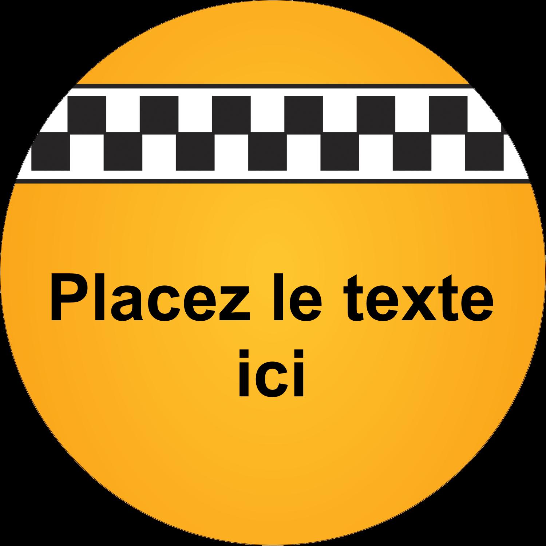 """1½"""" Diameter Étiquettes Voyantes - Échiquier taxi"""
