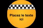 Échiquier taxi Étiquettes Voyantes - gabarit prédéfini. <br/>Utilisez notre logiciel Avery Design & Print Online pour personnaliser facilement la conception.