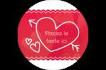 Dessin de la Saint-Valentin Étiquettes Voyantes - gabarit prédéfini. <br/>Utilisez notre logiciel Avery Design & Print Online pour personnaliser facilement la conception.