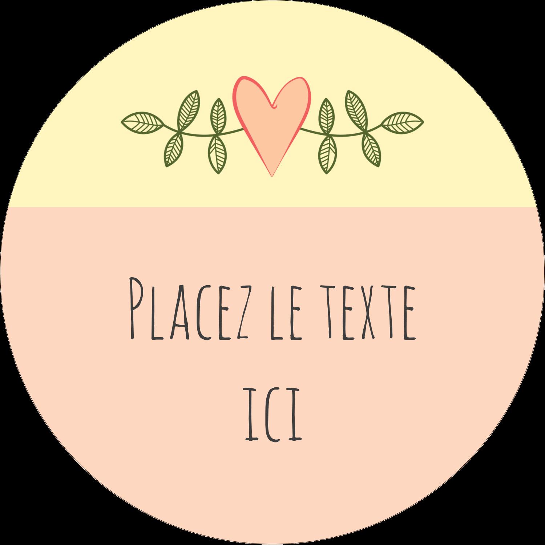"""2¼"""" x ¾"""" Étiquettes Voyantes - Dessin floral"""