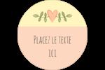 Dessin floral Étiquettes Voyantes - gabarit prédéfini. <br/>Utilisez notre logiciel Avery Design & Print Online pour personnaliser facilement la conception.