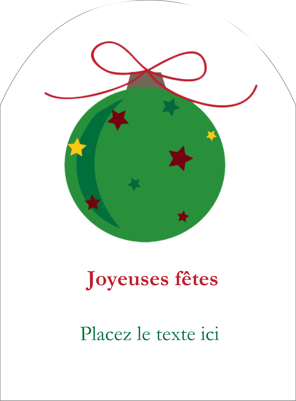 """4¾"""" x 3½"""" Étiquettes rectangulaires - Boule étoilée"""