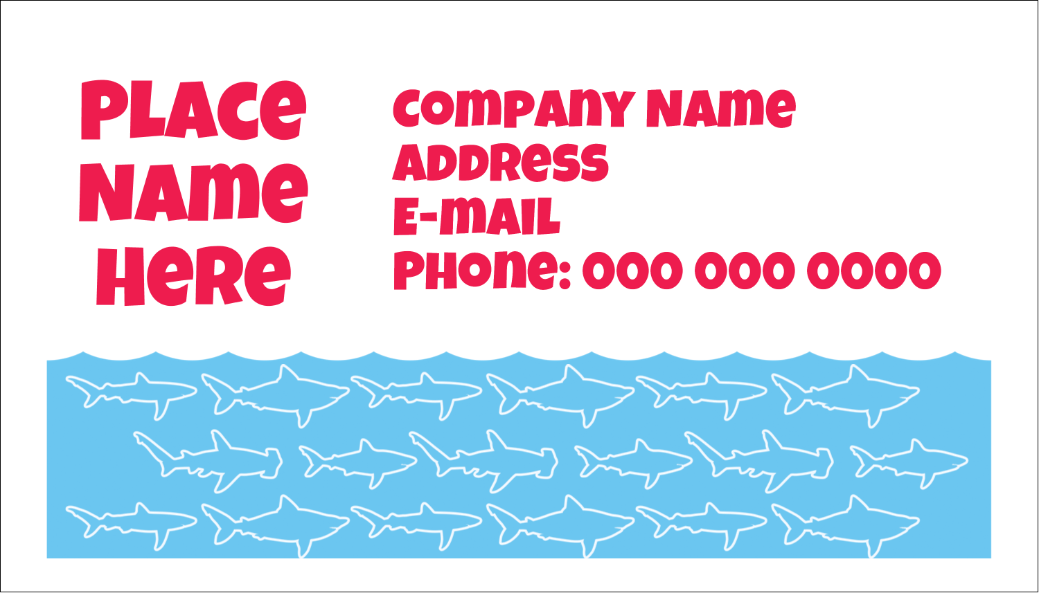 "2"" x 3½"" Business Card - Blue Sharks"