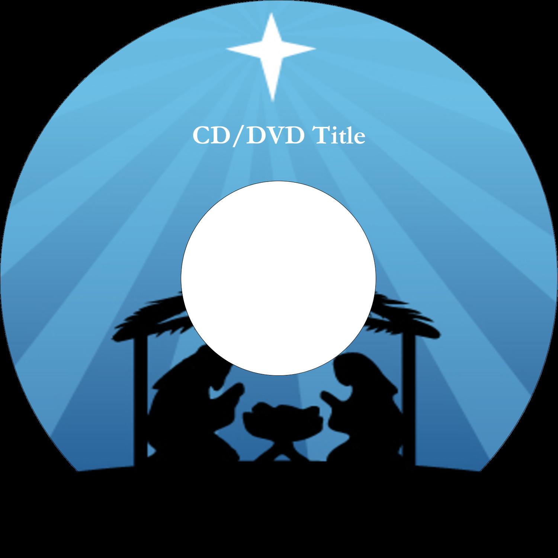 "4.65"" CD-DVD Label - Baby Manger"
