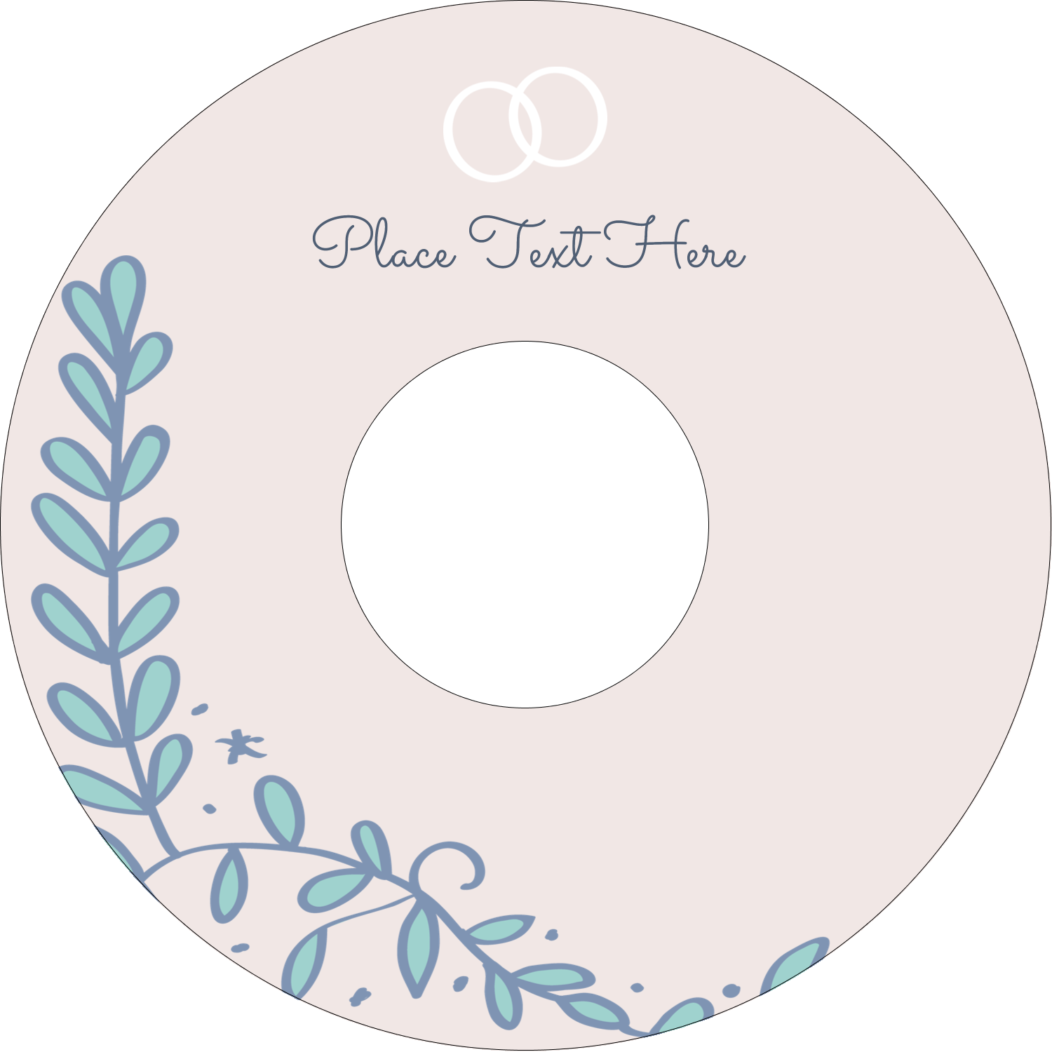 "4.65"" CD-DVD Label - Save the Date Blue"