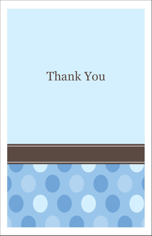 """5"""" x 8½"""" Half Fold Card - Baby Dots Boy"""