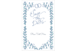 pre-designed Save the Date Blue templates make it easy to customize a variety of projects.
