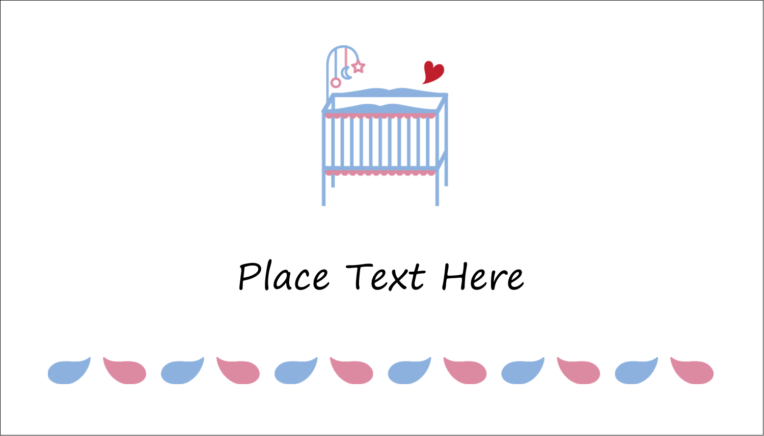 "2"" x 3½"" Business Card - Baby Crib"