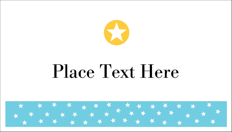 "2"" x 3½"" Business Card - Blue Yellow Stars"