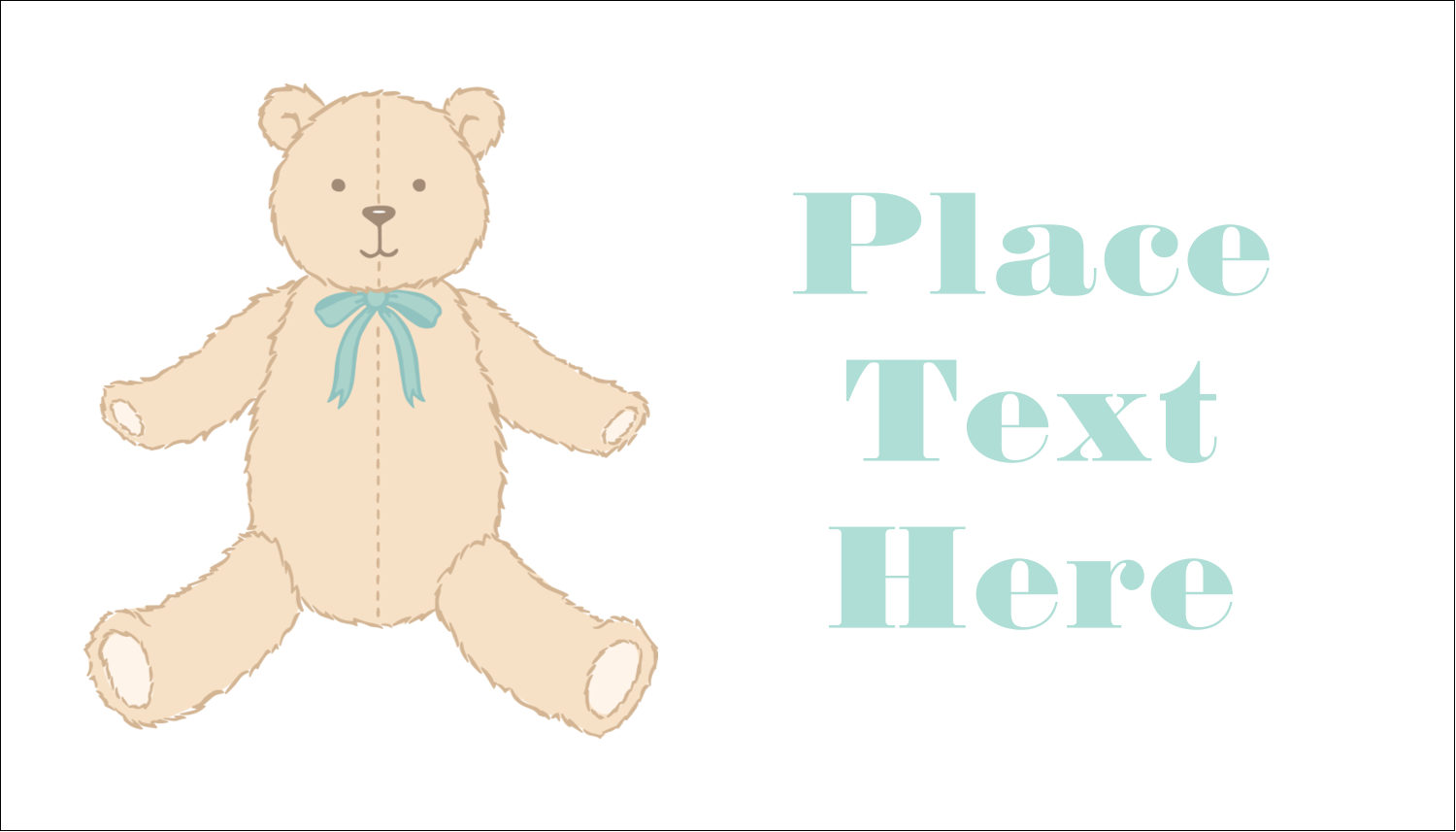 "2"" x 3½"" Business Card - Baby Teddy Bear"