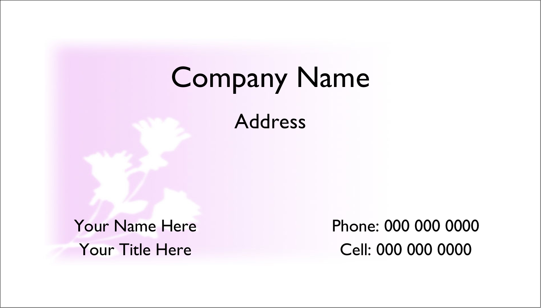 "2"" x 3½"" Business Card - Three Flowers"