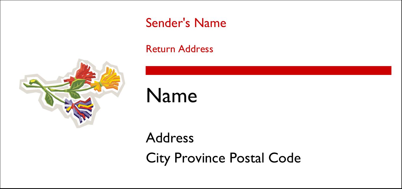 "4¼"" x 2"" Mailing Label - Three Flowers"