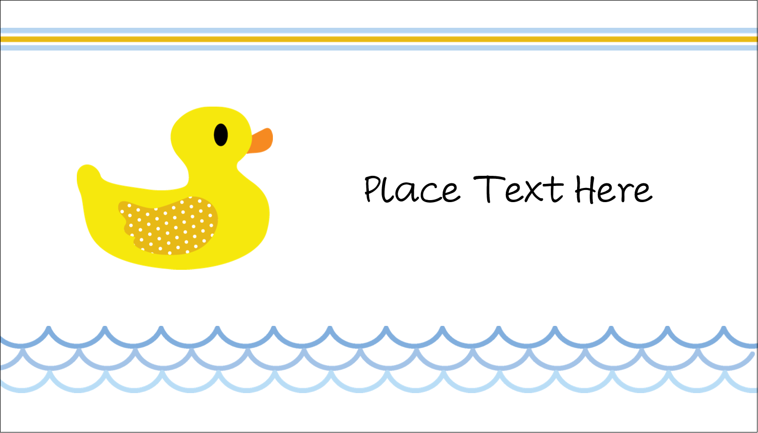 "2"" x 3½"" Business Card - Baby Duckie"