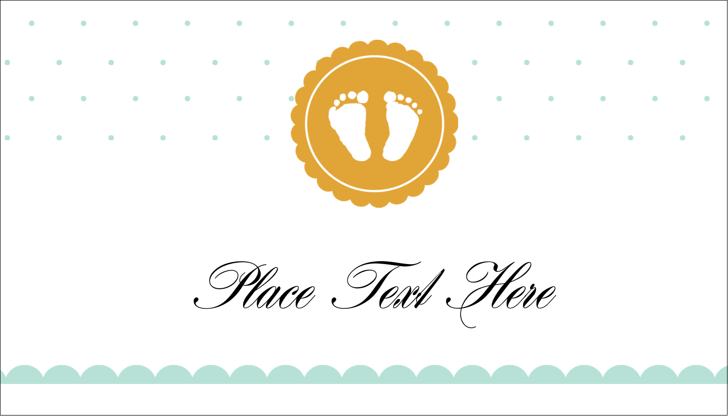 "2"" x 3½"" Business Card - Baby Footprints"