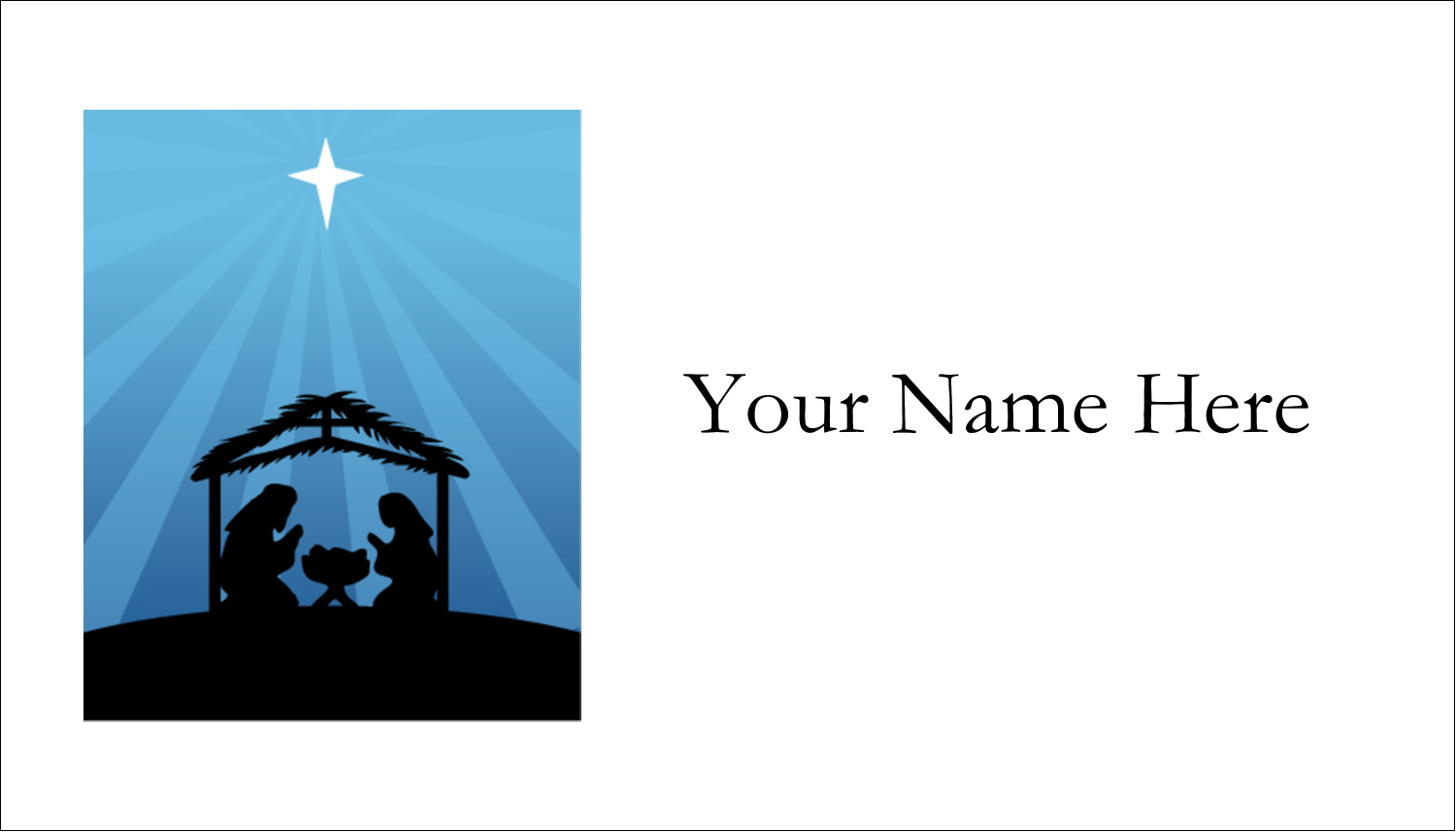 "2"" x 3½"" Business Card - Baby Manger"
