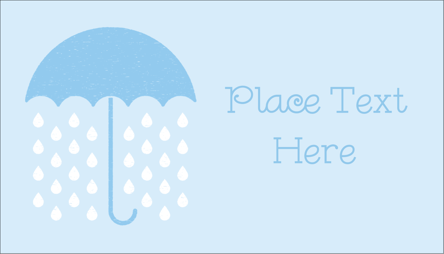 "2"" x 3½"" Business Card - Baby Umbrella"
