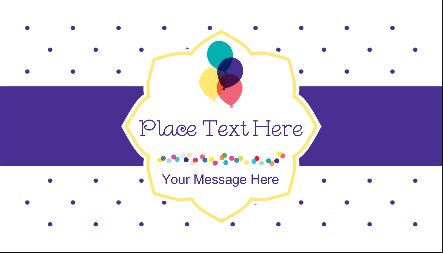 "2"" x 3½"" Business Card - Birthday Supplies"
