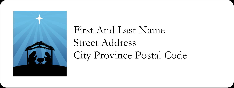 "⅔"" x 1¾"" Address Label - Baby Manger"