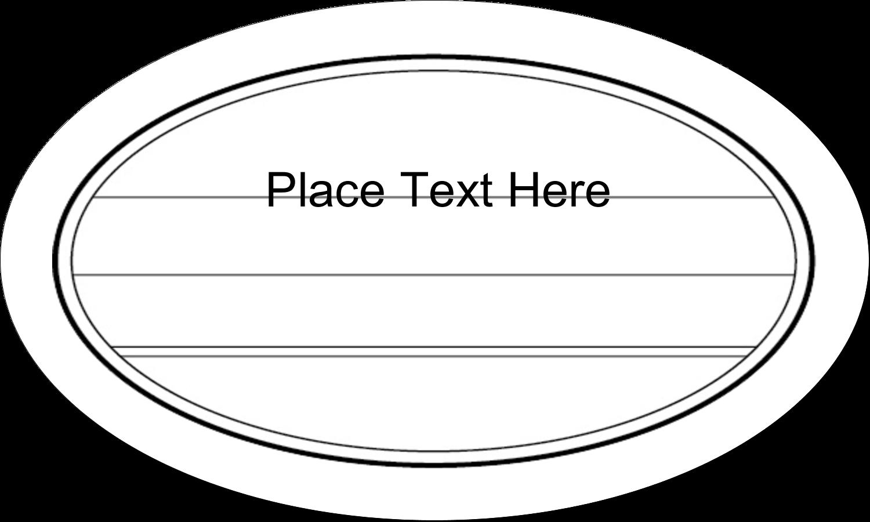 "1½"" x 2½"" Oval Glossy Label - Modern"