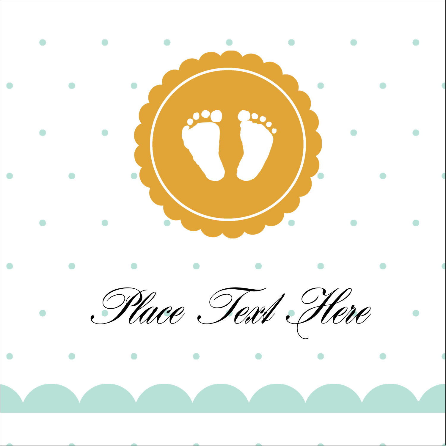 "1½"" x 1½"" Square Label - Baby Footprints"