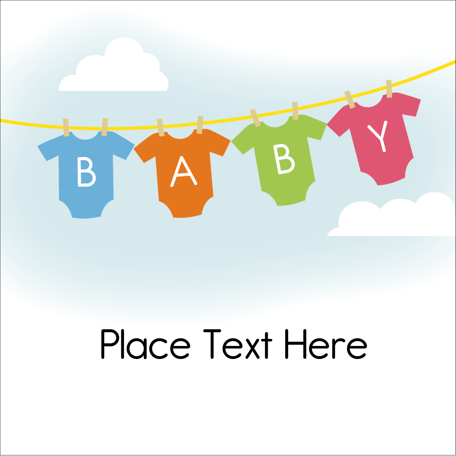 "1½"" x 1½"" Square Label - Baby Onesies"