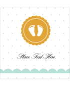 Custom projects make a great impression with pre-designed Baby Footprints templates.