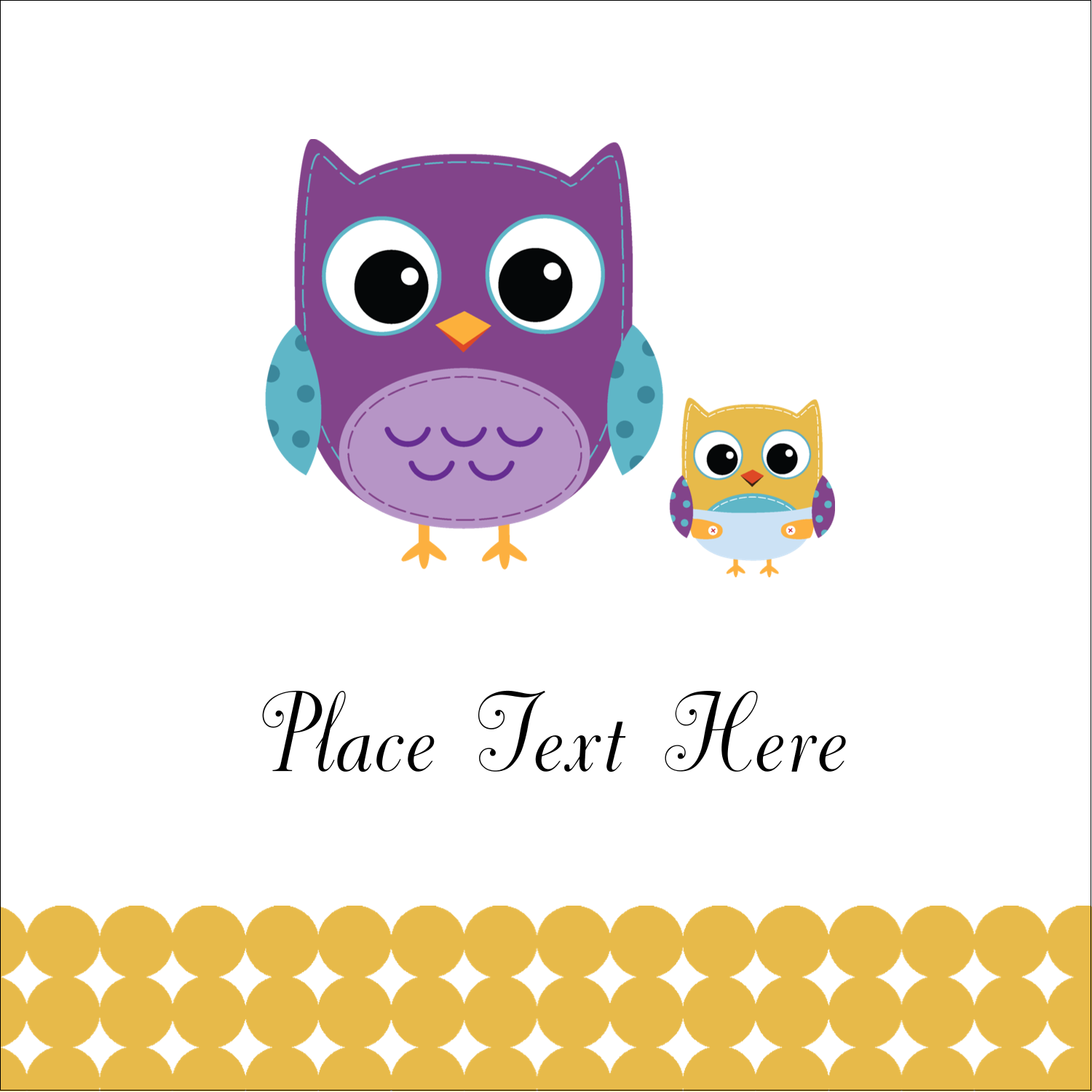 "2"" x 2"" Square Label - Baby Owl"