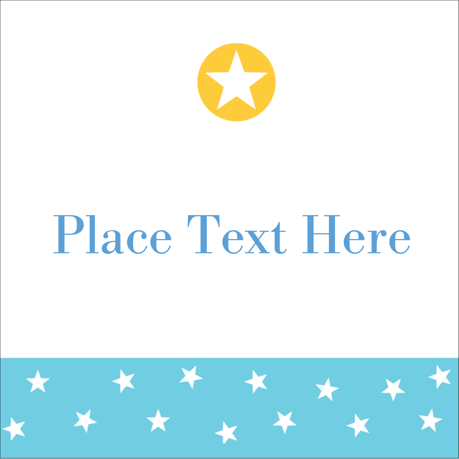 "2"" x 2"" Square Label - Blue Yellow Stars"