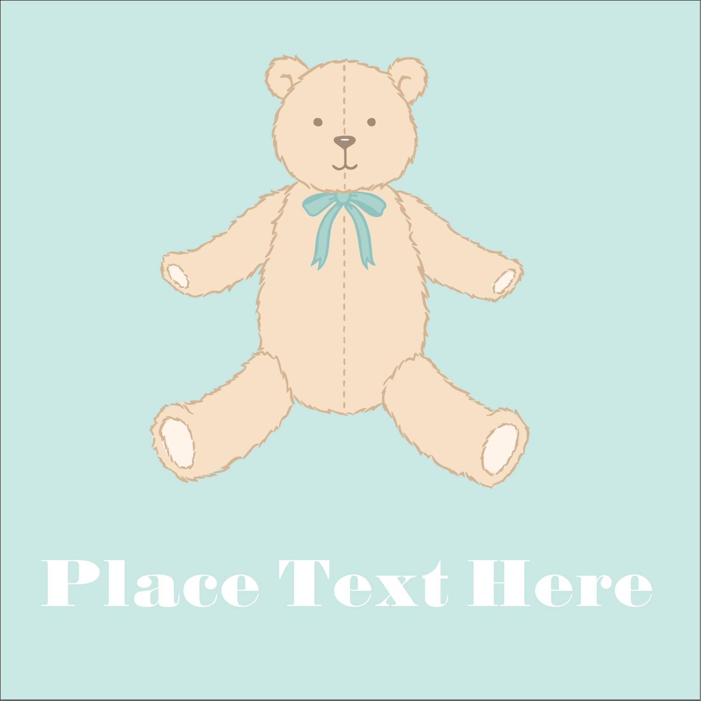 "2"" x 2"" Square Label - Baby Teddy Bear"