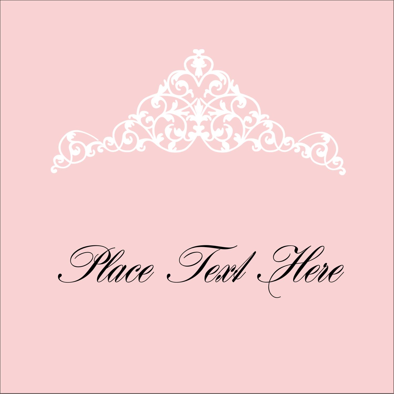 """2"""" x 2"""" Square Label - Pink Tiara"""