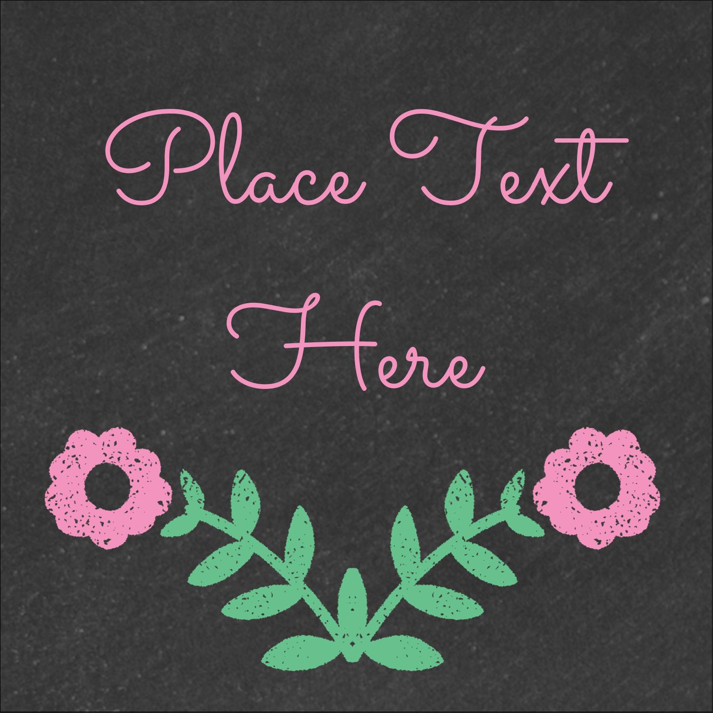 """2"""" x 2"""" Square Label - Floral Chalk"""