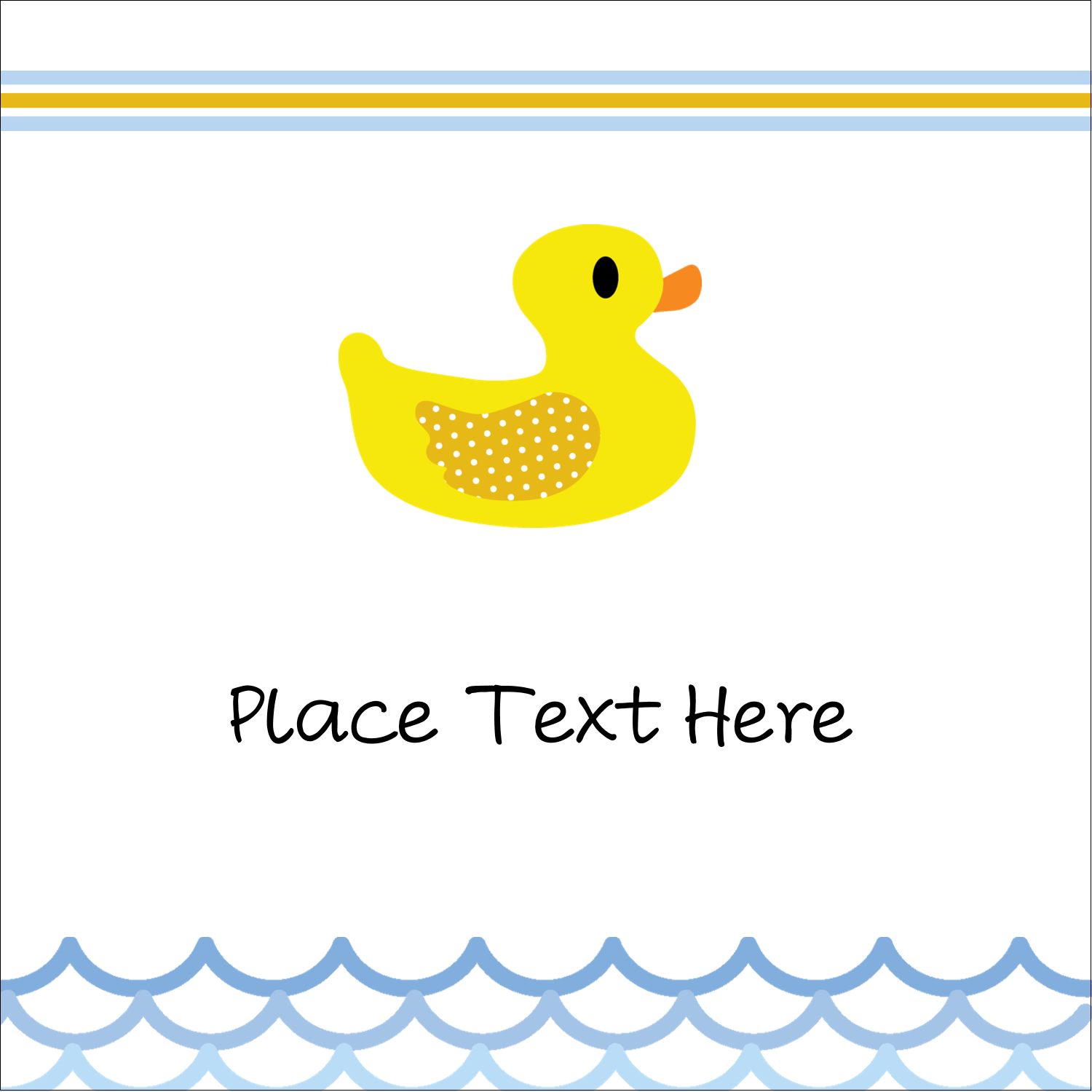 "2"" x 2"" Sqaure Label - Baby Duckie"