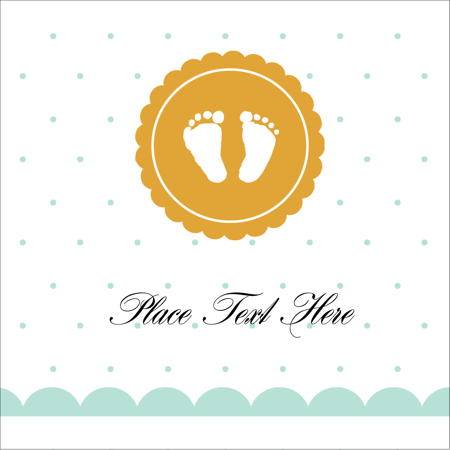 "2"" x 2"" Sqaure Label - Baby Footprints"