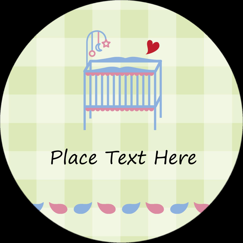 "2"" Round Label - Baby Crib"