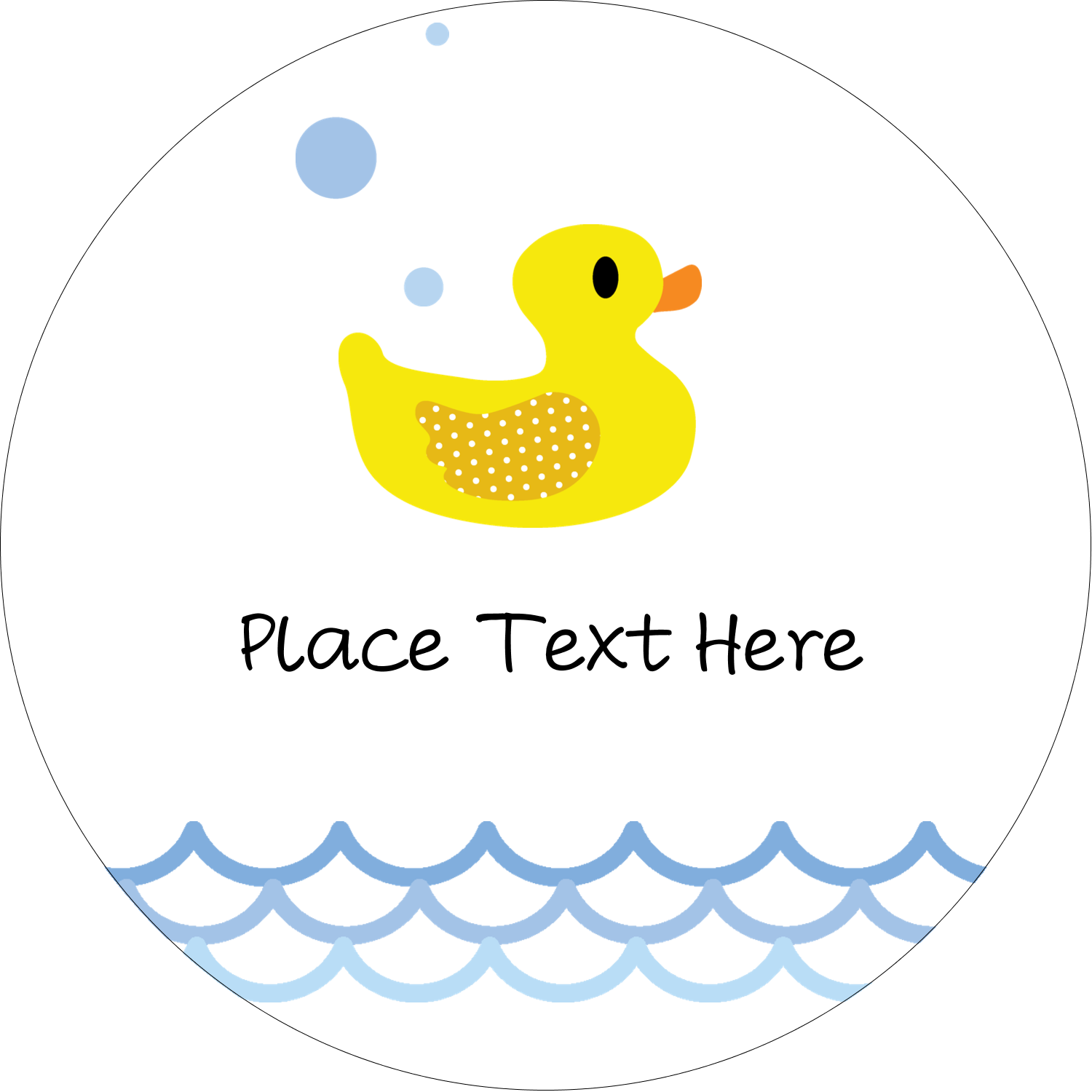 "2"" Round Label - Baby Duckie"