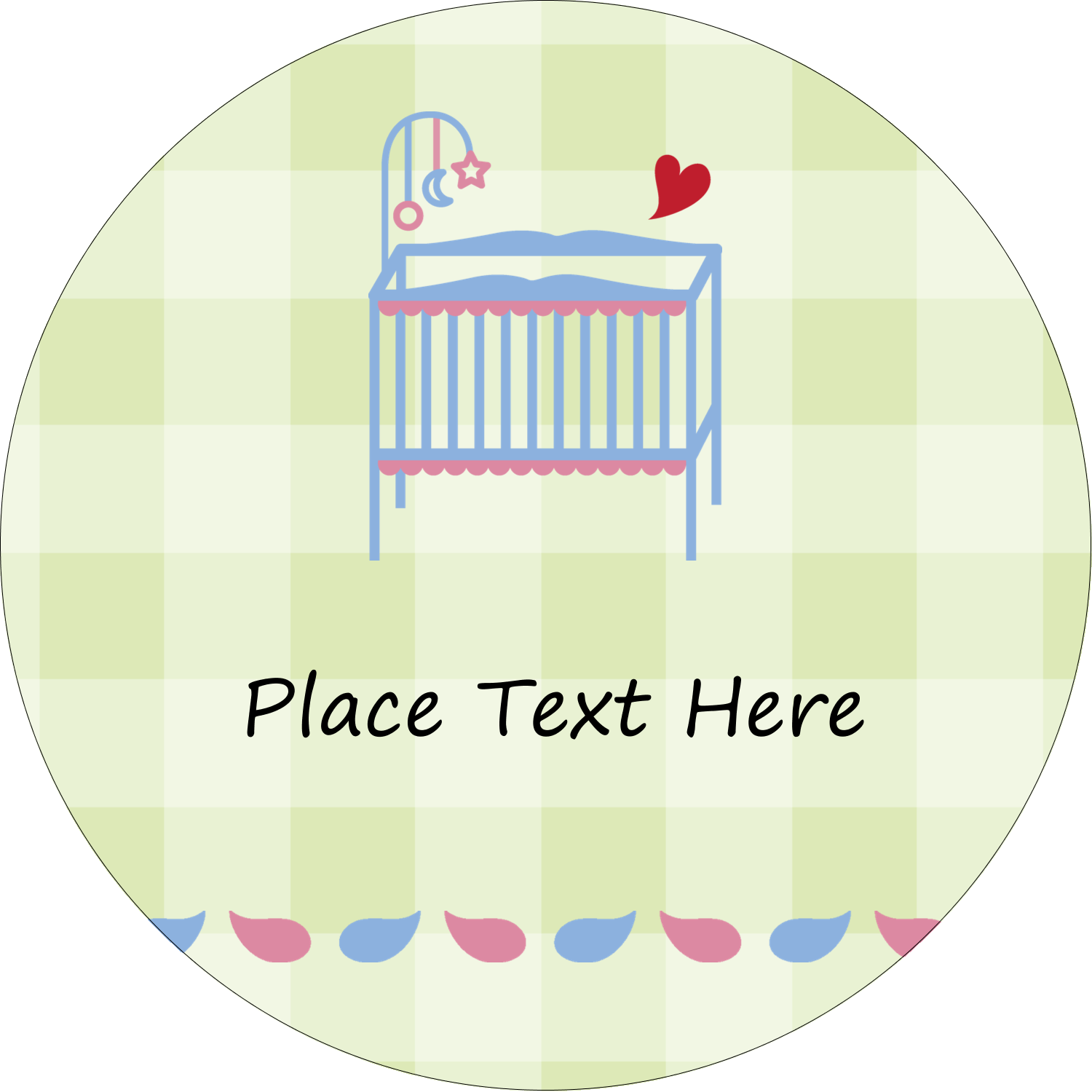 "2½"" Round Label - Baby Crib"