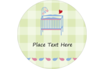Bring sweet dreams to custom projects with printable pre-designed Baby Crib templates.