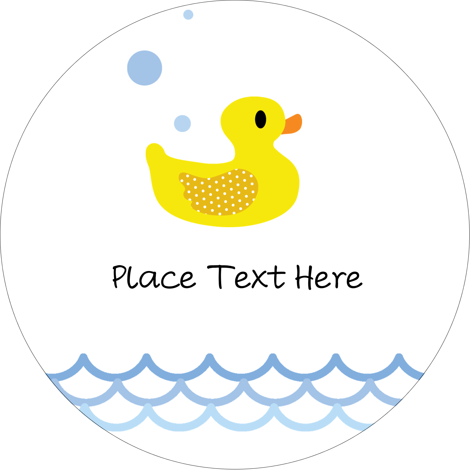 "2½"" Round Label - Baby Duckie"