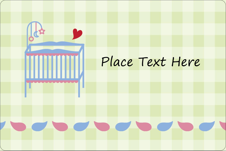 "2"" x 3"" Rectangular Label - Baby Crib"