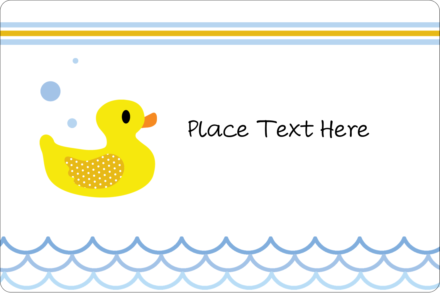 "2"" x 3"" Rectangular Label - Baby Duckie"